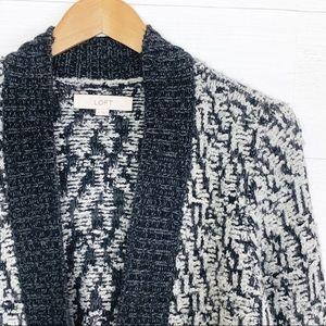 ff21ac723e Women s Black And White White Loft Open Front Sweater on Poshmark
